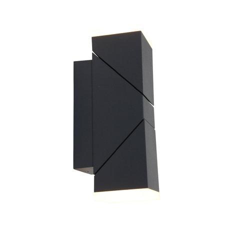 Steinhauer  Outdoor Wandlamp Jack Zwart Metaal Kunststof 9x9,5x22cm