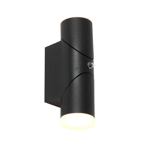 Steinhauer  Outdoor Wandlamp Samar LED Zwart Metaal 6,5x10,6x22cm