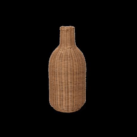 Ferm Living Lampenkap Braided Bottle Naturel bruin rotan Ø17x38cm