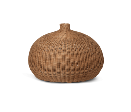 Ferm Living Hanging lamp Braided Belly Natural brown rattan Ø54.5x40cm