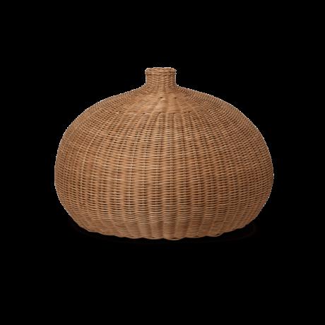 Ferm Living Hanglamp Braided Belly Naturel bruin rotan Ø54,5x40cm