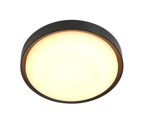 Steinhauer  Outdoor Wand / Plafondlamp Fuga LED Zwart Metaal ø25x5,6cm