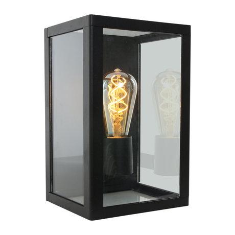 Steinhauer  Outdoor Wandlamp Boas Zwart Metaal Glas 17,5x18x28cm