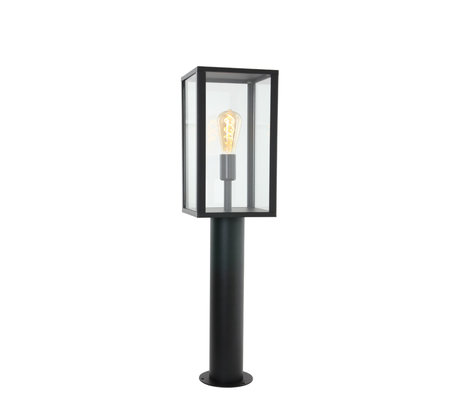 Steinhauer  Outdoor Staande Lamp Boas Zwart Metaal Glas 20x78,3cm