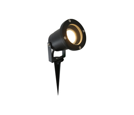 Steinhauer  Outdoor Lamp Spot met Grondpen Nova Zwart Metaal 9,5x9x32,5cm