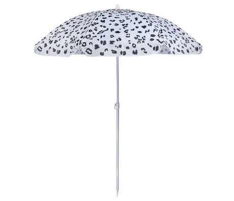 LEF collections Parasol beach eco wit kunststof staal 170x170x150cm