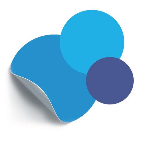Groovy Magnets Magneetsticker Cirkels Blauw zelfklevend vinyl set van 3 ø26,5|19|14cm