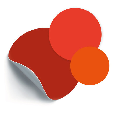 Groovy Magnets Magneetsticker Cirkels Rood zelfklevend vinyl set van 3 ø26,5|19|14cm