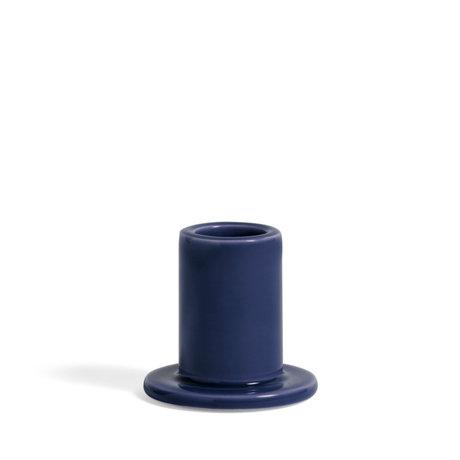 HAY Kandelaar Tube S Donkerblauw Aardewerk Ø5,5x5cm