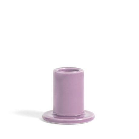 HAY Kandelaar Tube S Lila Aardewerk Ø5,5x5cm