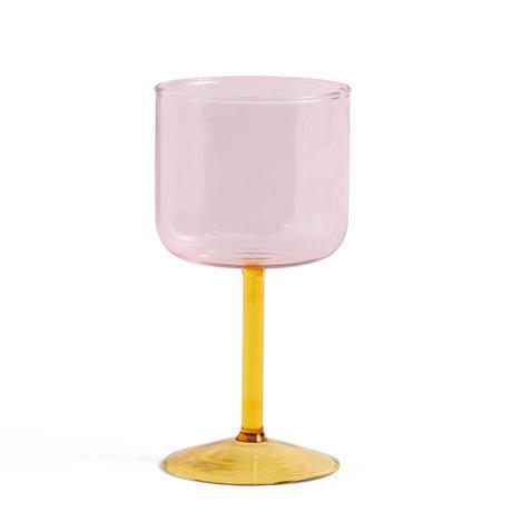 HAY Wijnglas Tint Roze Geel Glas 0,25L Ø7,5x15cm