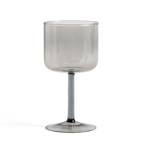HAY Wijnglas Tint Grijs Glas 0,25L Ø7,5x15cm set van 2
