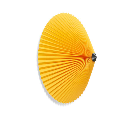 HAY Plafond - Wandlamp Matin 500 Geel Katoen ø50x20cm