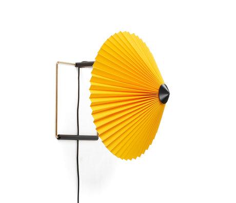 HAY Wandlamp Matin ø300 Geel Katoen Gepolijst Brons ø30x25cm