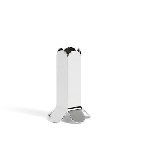 HAY Kandelaar Arcs S Mirror Zilver Aluminium Staal Ø5,5x9cm