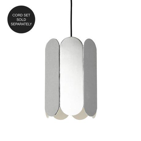 HAY Tafellamp - Hanglamp Exclusief Snoer Arcs Mirror Zilver Staal 20x20x30cm