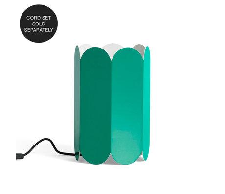HAY Tafellamp - Hanglamp Exlusief Snoer Arcs Groen Staal 20x20x30cm