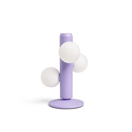 FÉST Tafellamp Kaktee Lila Metaal Glas Ø21x29cm