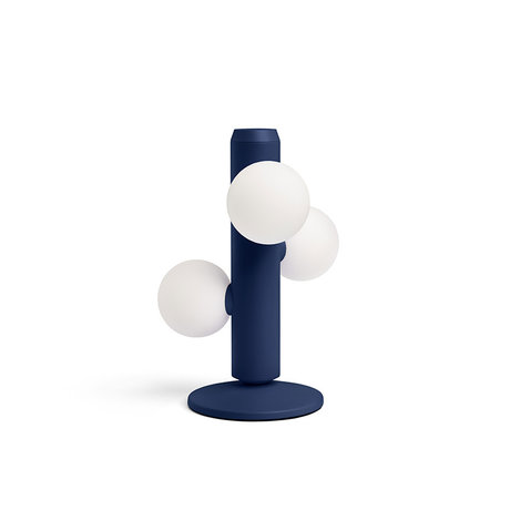 FÉST Tafellamp Kaktee Donkerblauw Metaal Glas Ø21x29cm