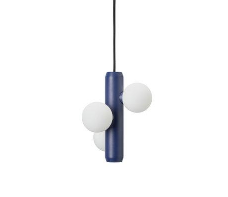 FÉST Hanglamp Kaktee Donkerblauw Metaal Glas Ø21x24cm