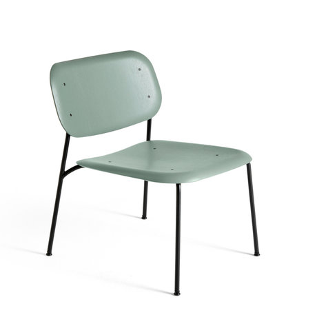 HAY In- Outdoor Lounge Stoel Soft Edge 10 Groen Hout Staal 57x64x69cm