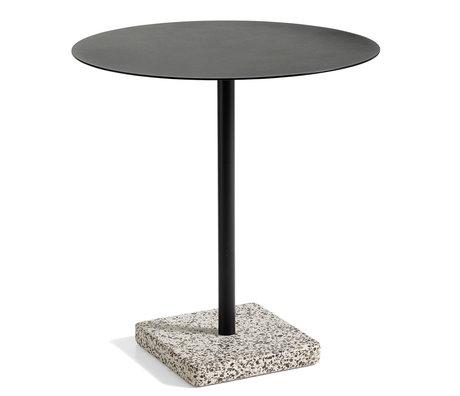 HAY Table Terrazzo Round Anthracite Steel Ø70x74cm
