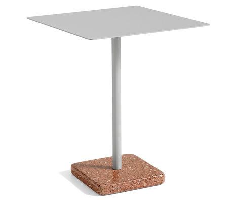 HAY Table Terrazzo Square Gray Red Steel 60x60x74cm