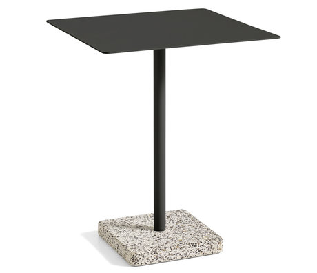 HAY Table Terrazzo Square Anthracite Steel 60x60x74cm