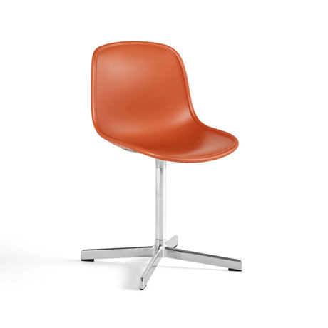 HAY Stoel NEU 10 Oranje Zilver Kunststof Aluminium 46x52,5x82cm