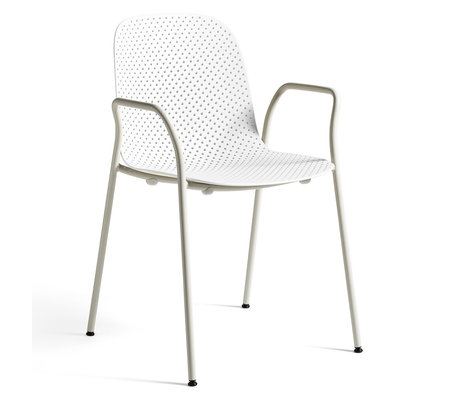 HAY Fauteuil 13EIGHTY Armleuning Wit Staal 53x57x82cm