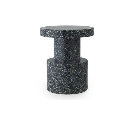 Normann Copenhagen Side Table / Stool Black Multicolor Plastic HDPE Ø36x42cm - Copy