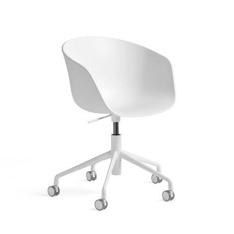 HAY Bureaustoel AAC 52 Wit Kunststof Aluminium 69x69x87,5cm