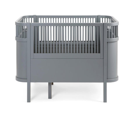 Sebra Bed baby & junior gray wood 115-155x75.8x88cm