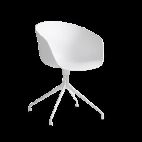 HAY Bureaustoel Draaiend AAC 20 Wit Kunststof Gepoedercoat Aluminium 59x52x79cm