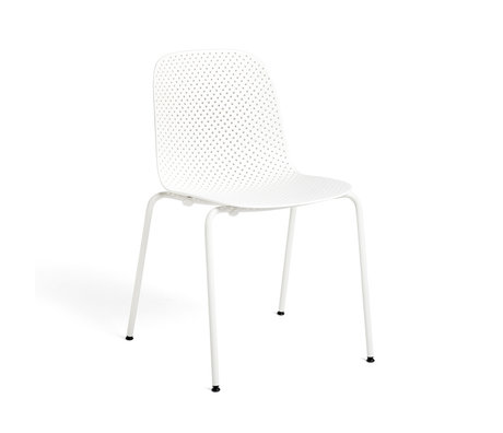 HAY Fauteuil 13EIGHTY Wit Staal 53x53x82cm