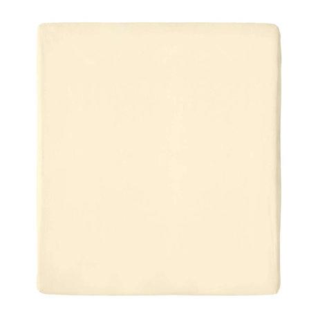 Snurk Beddengoed Fitted Sheet Uni Beige Cotton 180/200x200/220cm