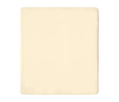 Snurk Beddengoed Fitted Sheet Uni Beige Cotton 90/100x200/220cm