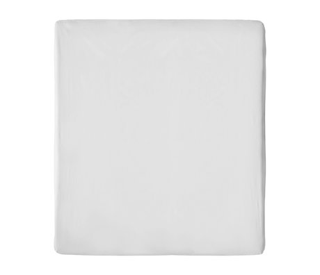 Snurk Beddengoed Fitted Sheet Uni Gray Cotton 90/100x200/220cm
