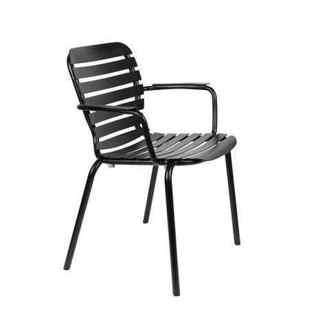 Zuiver Tuinstoel Vondel Armleuning Zwart Aluminium 64,7x58,2x82,5cm