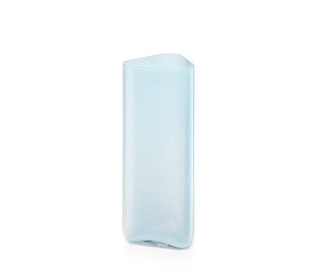 FÉST Vaas Bruce Blauw Glas 10x10x25cm