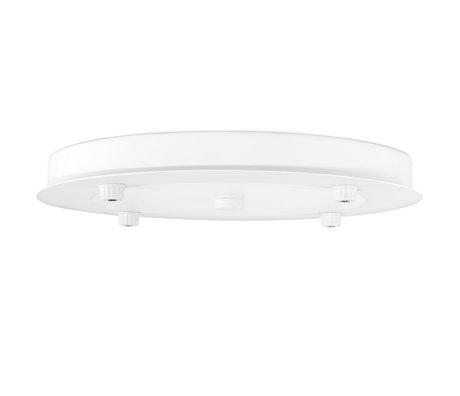 Ceiling plate Amp Canopy 4 pcs. white metal Ø32x3cm