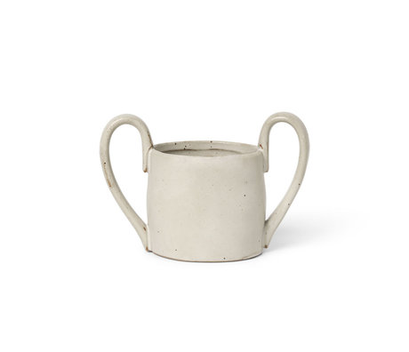 Ferm Living Kids Mug Flow Speckle Off White Porcelain 8x14.5x9cm