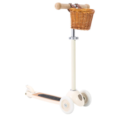 Banwood Scooter / Step Creme Alloy Eikenhout 29,7x9,6x70/75/80cm
