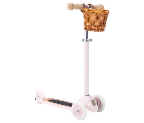 Banwood Scooter / Step Roze Alloy Eikenhout 29,7x9,6x70/75/80cm