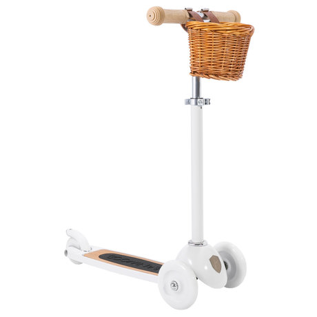 Banwood Scooter / Step Wit Alloy Eikenhout 29,7x9,6x70/75/80cm
