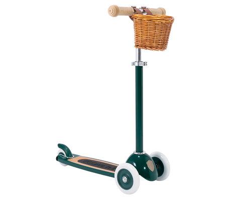 Banwood Scooter / Step Donkergroen Alloy Eikenhout 29,7x9,6x70/75/80cm