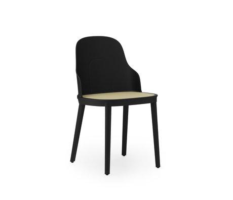 Normann Copenhagen Stuhl Allez Wicker Sitz Schwarzer Kunststoff 45x50x79cm - Copy