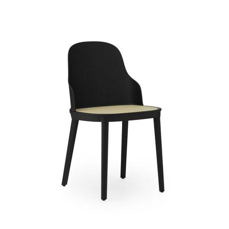 Normann Copenhagen Chair Allez Wicker Seat Black Plastic 45x50x79cm - Copy