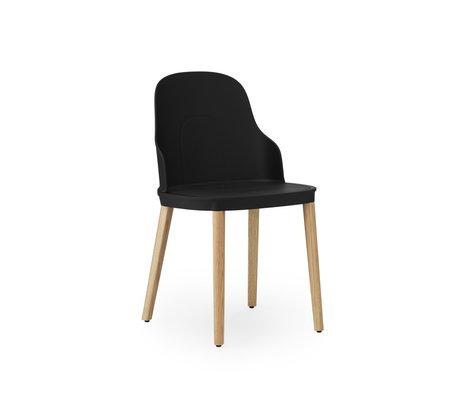 Normann Copenhagen Chair Allez Oak Black Plastic Oak 45x50x79cm - Copy