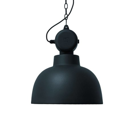 HK-living Factory matte black metal pendant lamp MEDIUM ø40x45cm